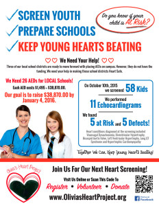 We need your help. Join us for our next heart screening