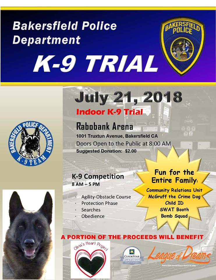 Bakersfield Police Department K-9 Trials
